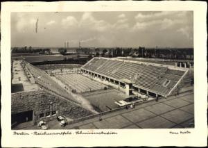 Ak Berlin Charlottenburg Westend, Schwimmstadion, Vogelschau, Hans Hartz