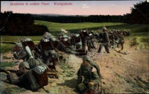 Ak Infanterie in vollem Feuer, Waldgefecht, Das Deutsche Heer
