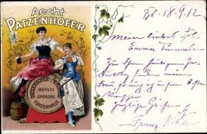 Ak Aecht Patzenhofer, Berlin Spandau, Brauerei, Frauen mit Bier