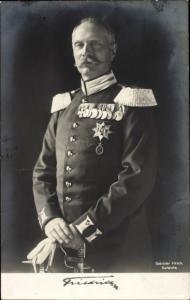 Ak Großherzog Friedrich II. von Baden, Portrait, Uniform, Orden, Rotes Kreuz