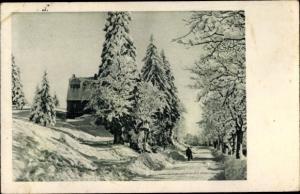 Ak Kaisersesch im Landkreis Cochem Zell Rheinland Pfalz, Partie im Ort, Winterlandschaft