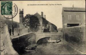 Ak Le Chambon Feugerolles Loire, Le Pont du Moulin