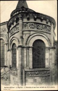 Ak Selles sur Cher Loir et Cher, L'Eglise, abside