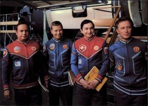 Ak Gemeinsamer Kosmosflug UdSSR/DDR, Waleri Bykowski, Sigmund Jähn, Eberhard Koliner