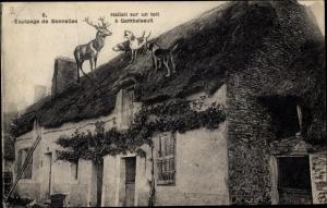 Ak Bonnelles Yvelines, Equipage, Hallali sur un toit à Gambaiseuil
