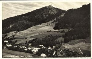 Ak Sobieszów Hermsdorf Kynast Riesengebirge Schlesien, Totalansicht