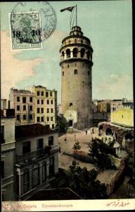 Ak Constantinople Konstantinopel Istanbul Türkei, Tour de Galata