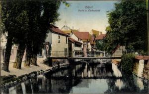 Ak Erfurt in Thüringen, Partie am Fischersand, Brücke