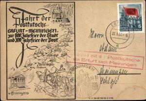 Ak Erfurt in Thüringen, Fahrt der Postkutsche Erfurt Meiningen, 300 Jahrfeier der Post