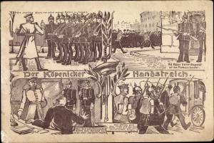 Künstler Ak Berlin Köpenick, Köpenicker Handstreich, Hauptmann von Köpenick