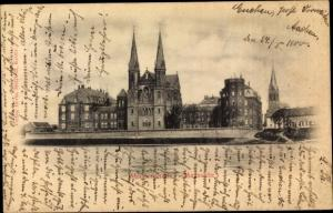 Ak Steyl Venlo Limburg Niederlande, Missionshaus, Maasseite