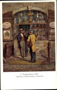 Künstler Ak Müller, Gustav, Stadtpostbote 1830, Geschäft