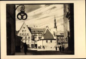 Ak Tallinn Reval Estland, Altstadt, Kirchturm