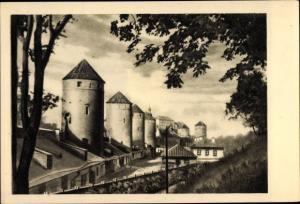 Ak Tallinn Reval Estland, Altertümliche Festungstürme