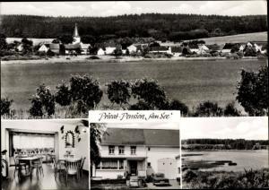 Ak Dreifelden in Rheinland Pfalz, Privatpension Am See, Totale