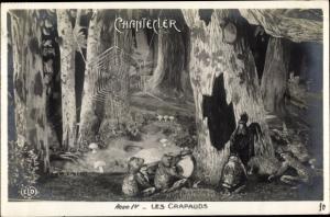 Ak Chantecler, Acte IV, Les Crapauds, Frösche, Hahn, Fabel