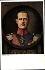 Künstler Ak Ulmer, F., Herzog Albrecht von Württemberg, Portrait, I. WK