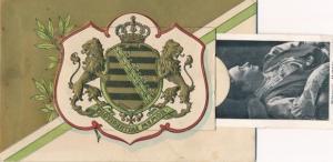 Leporello Ak König Friedrich August III. von Sachsen, Kronprinz Georg, Prinz Friedrich Christian