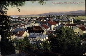 Ak Amstetten in Niederösterreich, Blick über die Dächer der Stadt