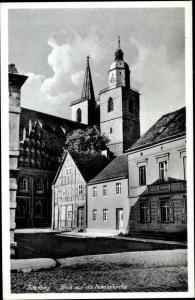 Ak Jüterbog in Brandenburg, Blick auf die  Nikolaikirche
