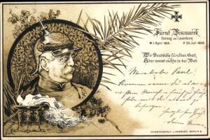 Litho Fürst Otto von Bismarck, Zitat, Wir Deutsche fürchten Gott
