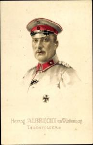 Künstler Ak Herzog Albrecht von Württemberg, Portrait