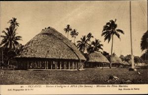 Ak Apia Samoa Ozeanien, Missions des Peres Maristes