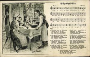 Lied Ak Schneider, Rud., Heilig Ohmd Lied, Familie, Bleigießen, Wilhelm Vogel