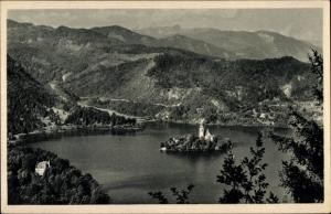 Ak Bled Veldes Slowenien, Landschaft, Insel, Kirche, Berge