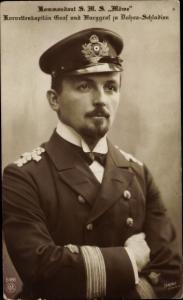 Ak Korvettenkapitän Graf und Burggraf zu Dohna Schlodien, Kommandant der SMS Möwe, NPG 5483