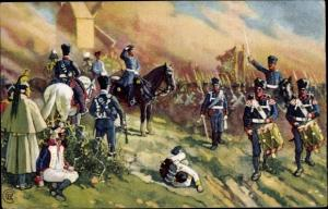 Künstler Ak General Bülow bei Dennewitz, Junicosan L. Lichtenheldt