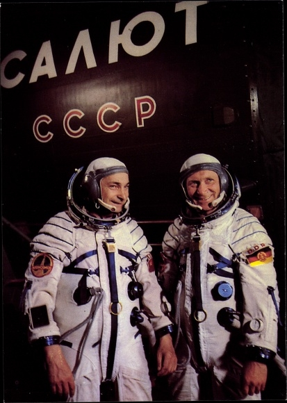 Ak Gemeinsamer Kosmosflug der UdSSR/DDR, Waleri Bykowski, Siegmund Jähn 0