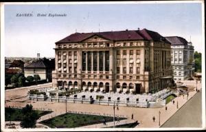 Ak Zagreb Kroatien, Hotel Esplanade