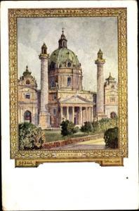 Ak Wien - 4, 10. Deutsches Sängerbundfest, Karlskirche, Schüler