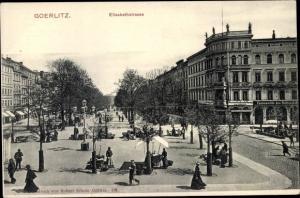 Ak Görlitz in der Lausitz, Elisabethstraße