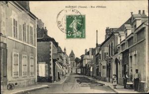 Ak Bleneau Auxerre Yonne, Rue d'Orleans