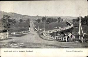 Ak Gundagai New South Wales Australien, Traffic and Railway Bridges