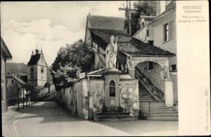 Ak Bregenz am Bodensee Vorarlberg, Pfarrkirche, Aufgang zum Kloster