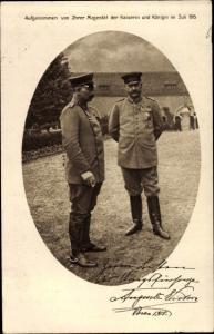 Ak Kaiser Wilhelm II., Generalfeldmarschall Paul von Hindenburg, Posen