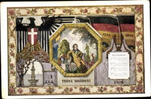 Ak Wien - 1, 10. Deutsches Sängerbundfest, der Lindenbaum, 1797 - 1828, Schüler