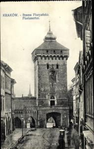 Ak Kraków Krakau Polen, Florianertor