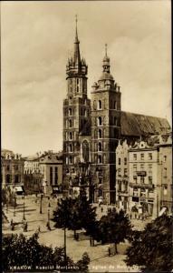 Ak Kraków Krakau Polen, Marienkirche, Kosciol Marjacki