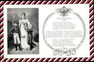 Passepartout Ak Königin Luise von Mecklenburg Strelitz, Luise von Preußen, Söhne