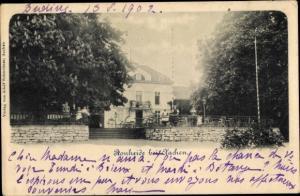 Ak Ronheide Aachen in Nordrhein Westfalen, Straßenpartie mit Blick auf ein Gasthaus