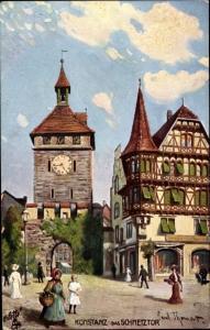 Künstler Ak Konstanz am Bodensee, Schnetztor