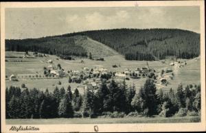 Ak Altglashütten Feldberg im Schwarzwald Baden Württemberg, Panorama vom Ort und Schwarzwald