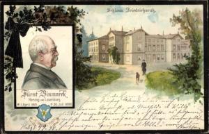 Litho Friedrichsruh Aumühle Schleswig Holstein, Schloss Friedrichsruh, Fürst Bismarck