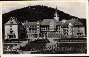 Ak Lillafüred Ungarn, Palast Hotel und Parkpartie