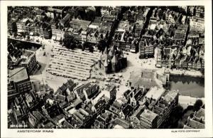 Ak Amsterdam Nordholland Niederlande, Waag, Fliegeraufnahme