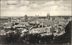Ak Eger Erlau Heves Ungarn,Gesamtansicht